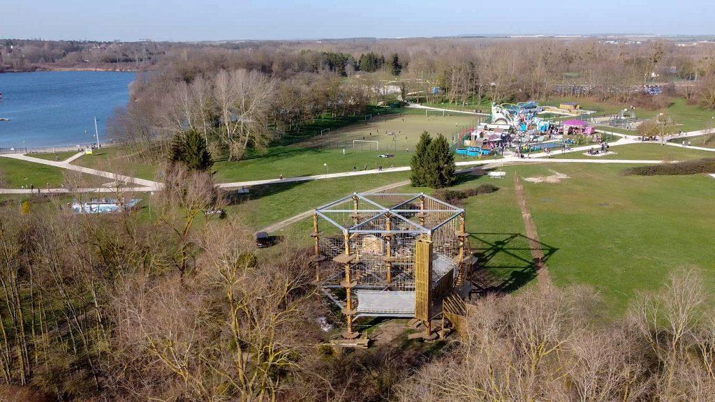 Parc Accrobranche Seine-et-Marne, île de loisirs de Jablines-Annet